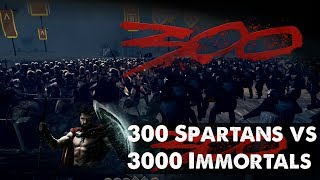 Rome: Total War 2 Massive Battles - 300 Spartans vs 3000 Immortals [Ultra/1080p]