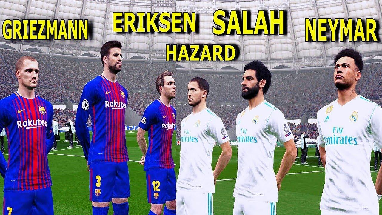 Barcelona Vs Real Madrid Salah Neymar Hazard Griezmann