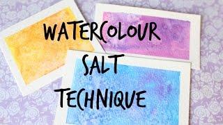 Watercolour-Salt Technique