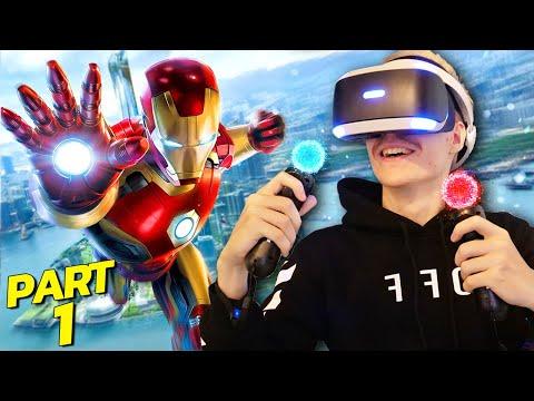 BECOMING IRON MAN IN VIRTUAL REALITY | Marvel's Iron Man VR - Part 1 (PS4 Walkthrough/Gameplay)