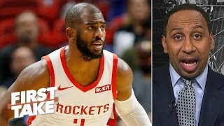 Stephen A. 'saddened' by Chris Paul's injury | First Take