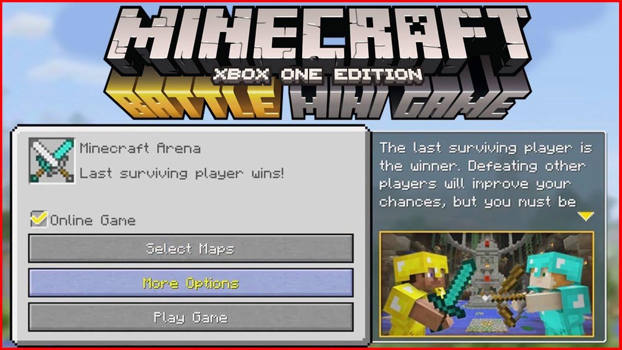 Minecraft PS Xbox CUSTOM BATTLE MODE MENU MINI GAMES GAMEPLAY - Minecraft ps4 minispiele