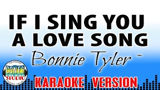 IF I SING YOU A LOVE SONG - Bonnie Tyler (KARAOKE)