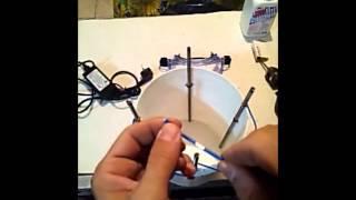 Eliminazione elettrolitica della ruggine  PARTE 1 elettrolisi ferro