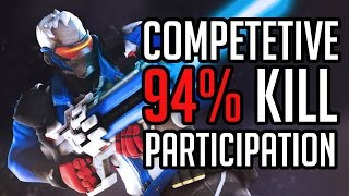 94% Kill Participation In Competitive | Soldier:76 Gameplay