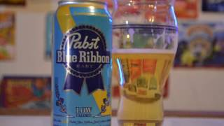 Pabst Blue Ribbon Easy Low Calorie Beer Review -- New Merch - Bloopers