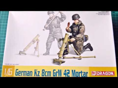 DRAGON 1//6 Scale German Kz 8cm GrW 42 Mortar Kit 75023