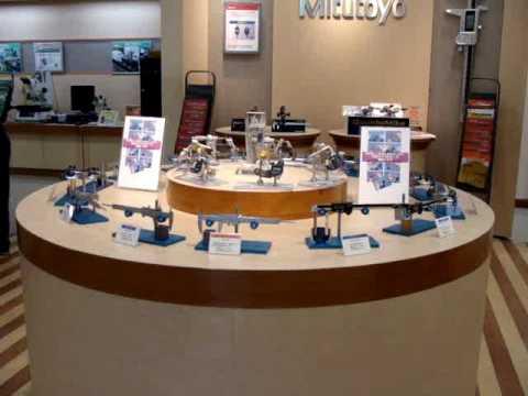 ミツトヨ計測器展示会の様子