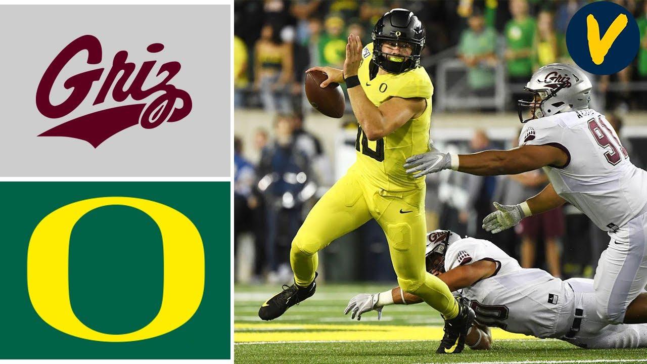 Week 3 2019 Montana vs #15 Oregon College Football Full Game Highlights