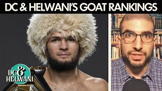 Where does Khabib Nurmagomedov rank in the GOAT discussion? | DC & Helwani | ESPN MMA
