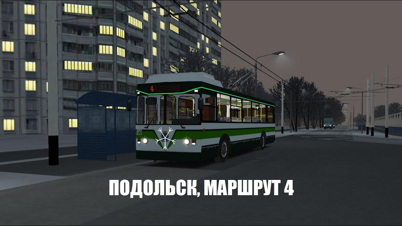 [OMSI 2] Предновогодняя поездка по 4 троллейбусному маршруту.