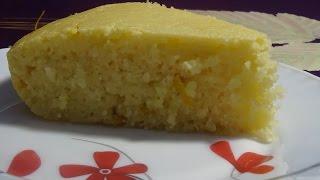 Лимонный манник на кефире (без муки)