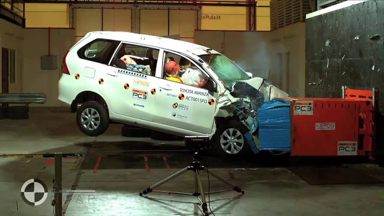 Uji Tabrak Grand New Avanza All Vs Toyota By Asean Ncap Youtube