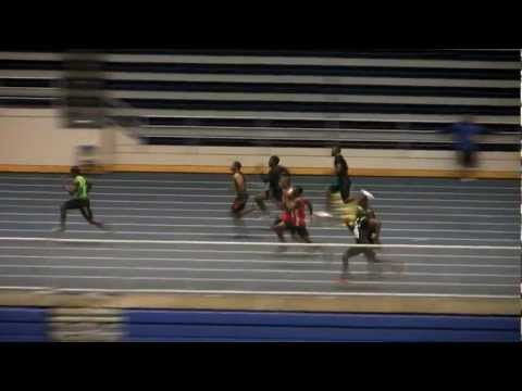 Marvin Bracy - High School National Record 6.08 55 Meters - Jimmy Carnes 1-29-2012 - With SlowMo