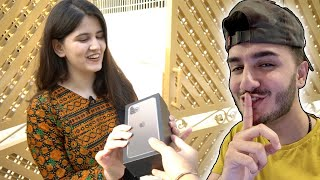 She wasn't expecting this! (New iPhone 11 Giveaway)