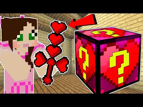 Minecraft: HEART LUCKY BLOCK!!! (EARMUFFS, HEART WEAPONS, & ARMOR!) Mod Showcase thumbnail