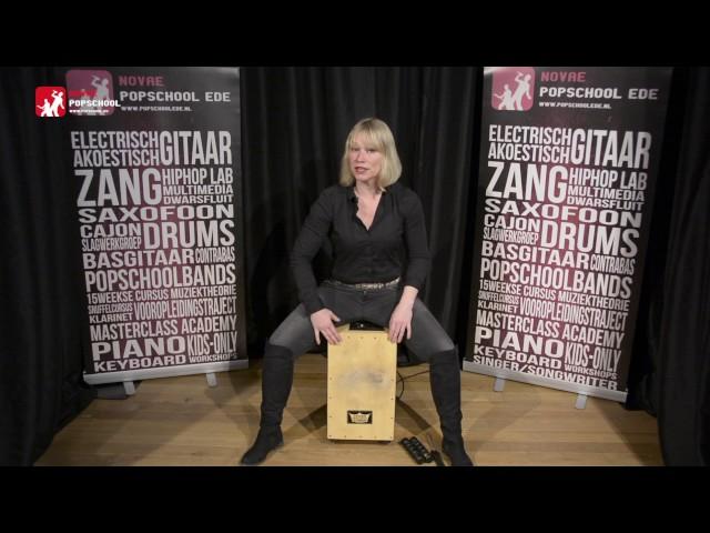 Cajon leren spelen - deel 1.  Volg de cajoncursus met Femke Krone