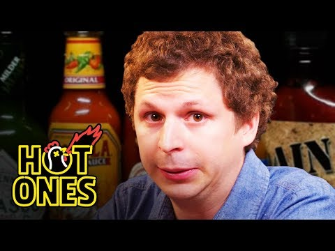 Michael Cera Experiences Mouth Pains While Eating Spicy Wings | Hot Ones
