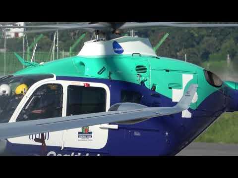 EC-JHT INAER Eurocopter EC135 (Osakidetza) llegada y salida San Sebastián (EAS/LESO)