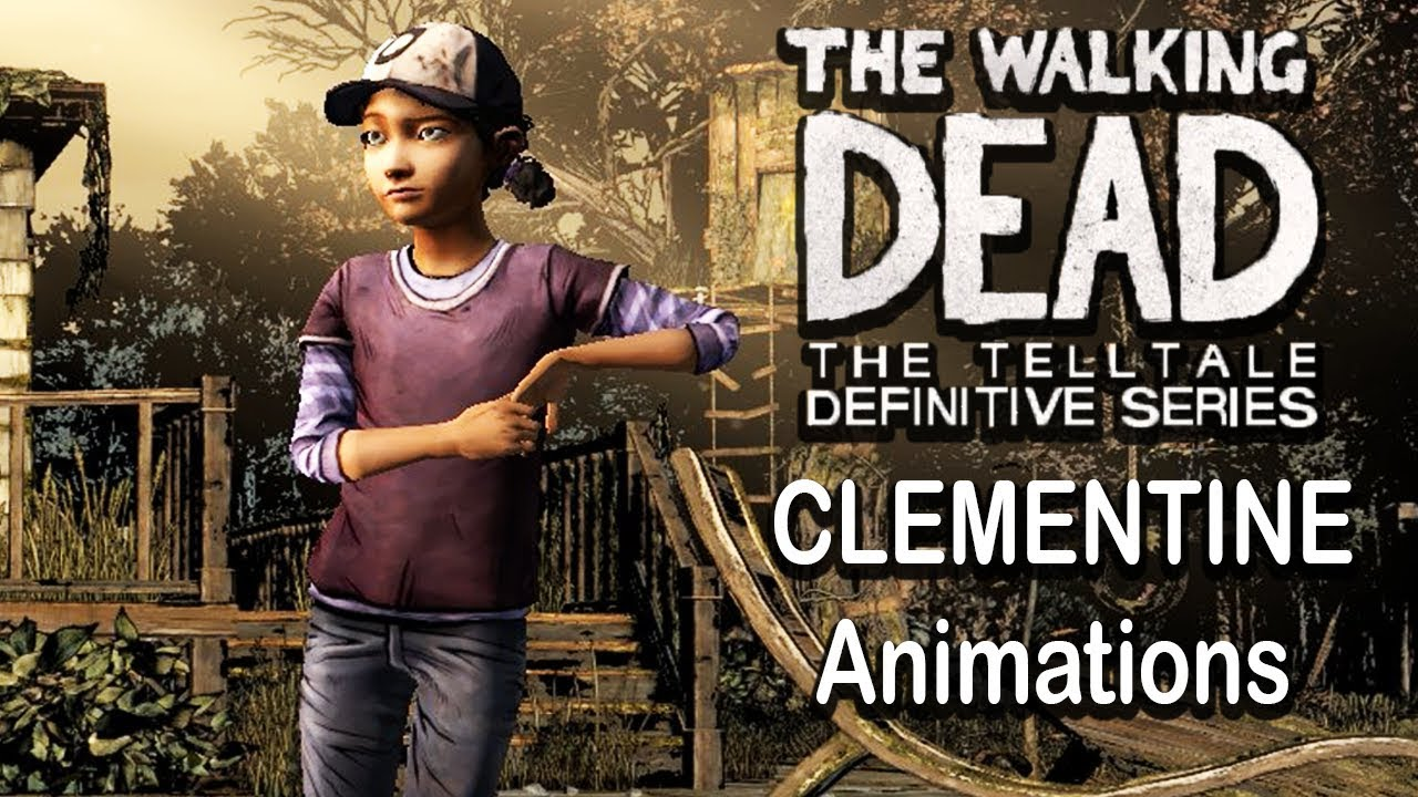 All Clementine Animations Outfits And Voice Lines The Walking Dead Definitive Edition