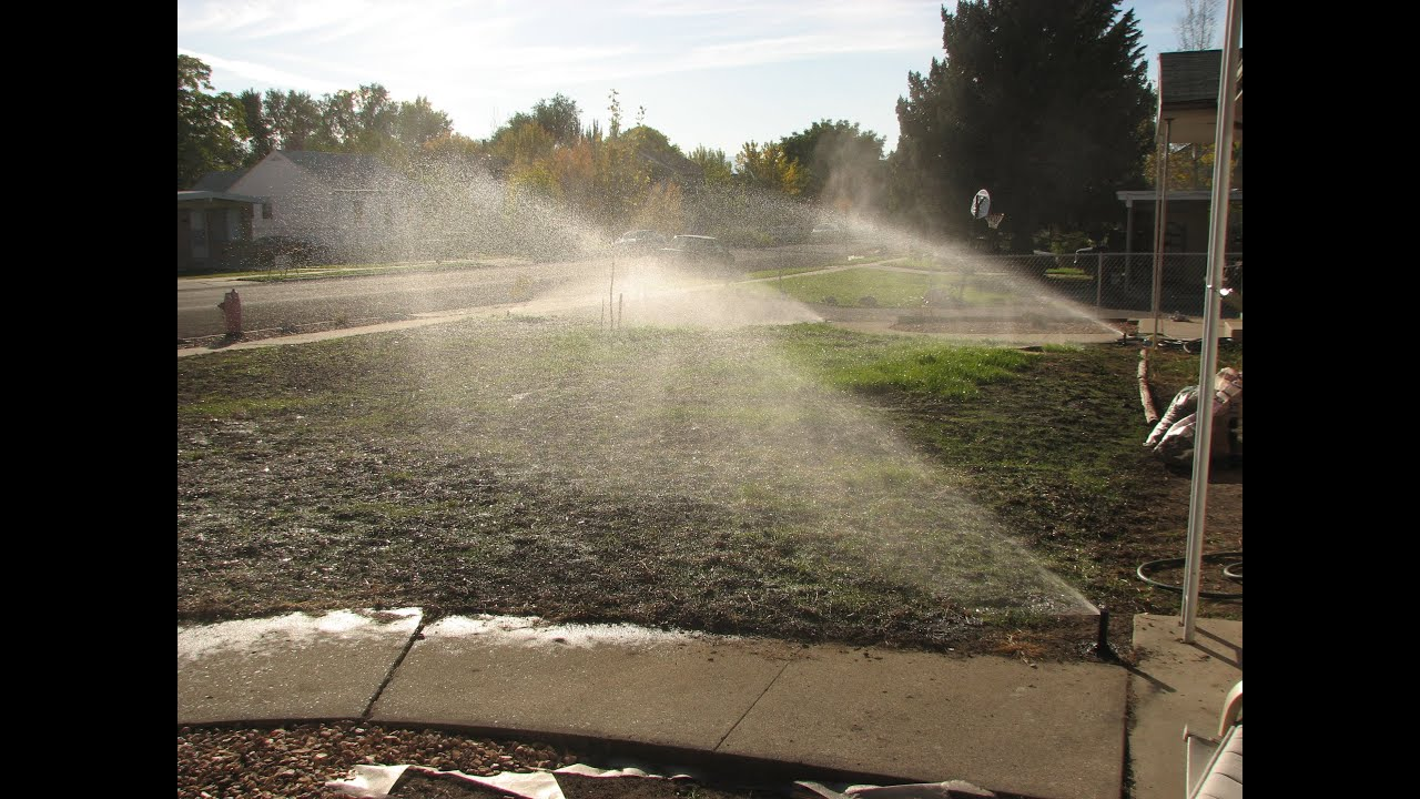 How To Install A Sprinkler System Time Lapse Youtube