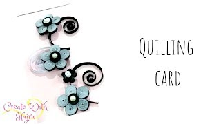 quilling black and white greeting card