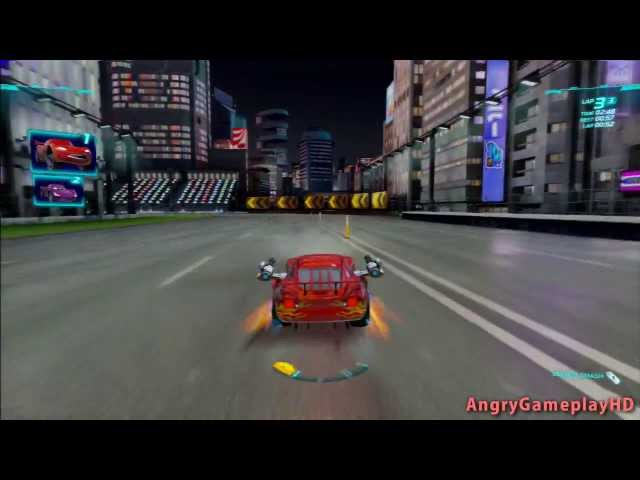 PS3 Cars 2 Video Game Part 11 - Lightning McQueen (Dragon) Objects in Mirror Playstation 3 + Xbox360