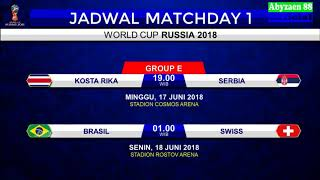 Video Jadwal Lengkap Fase Grup Piala Dunia 2018 Rusia download MP3, 3GP, MP4, WEBM, AVI, FLV Agustus 2018