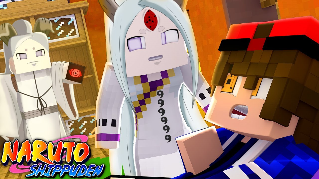 Minecraft : Naruto D - KAGUYA OTSUTSUKI SE LIBERTA DO CONTROLE DO SHARINGAN DOOURADO ! EP 5