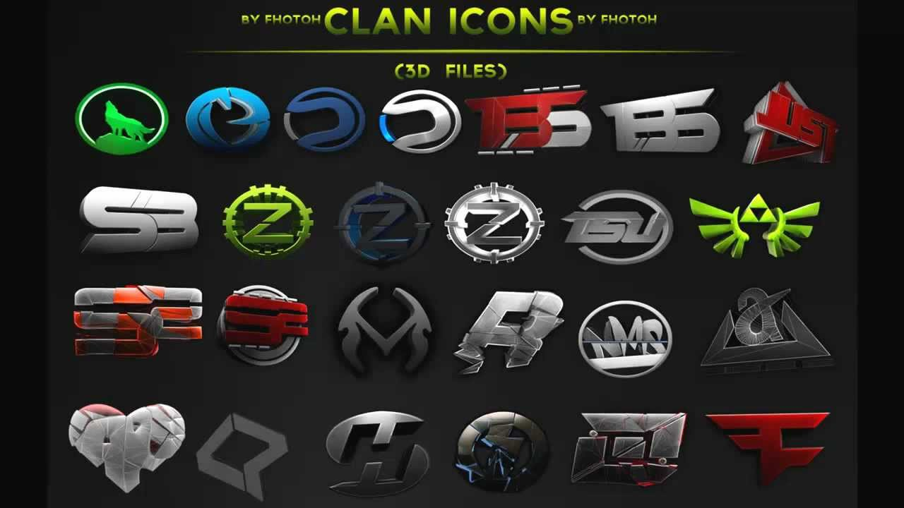 Clan Icon Pack 3D Files - By Fhotoh - YouTube