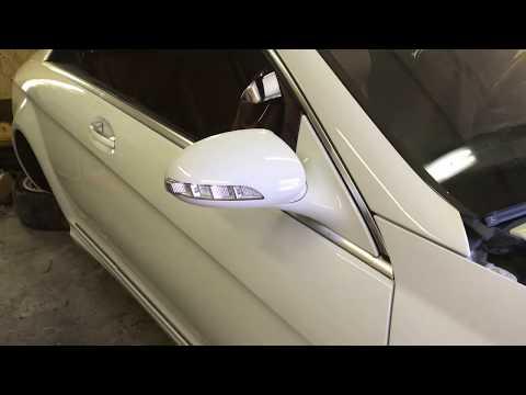 CL500 C216 Снятие заднего сиденья, полки, подголовников