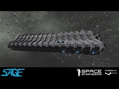 "Space Engineers, Large Attack Ship ""The Frog"""