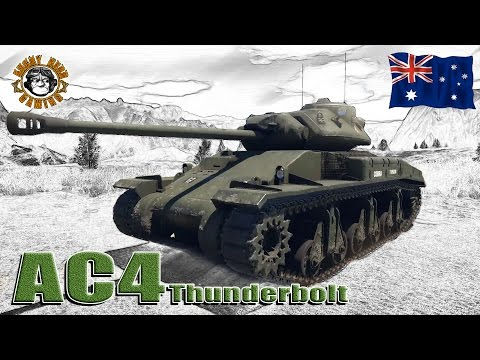 War Thunder: AC4 Thunderbolt, British Premium, Tier-3 Medium Tank