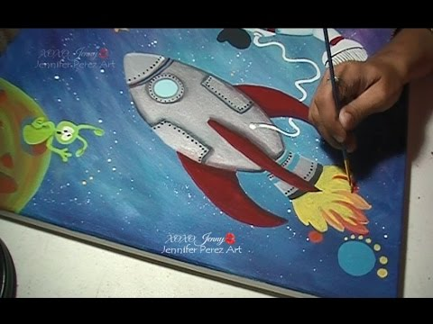 Kids Decorating Ideas Space Astronaut Art ☆ JenniferPerezArt ★