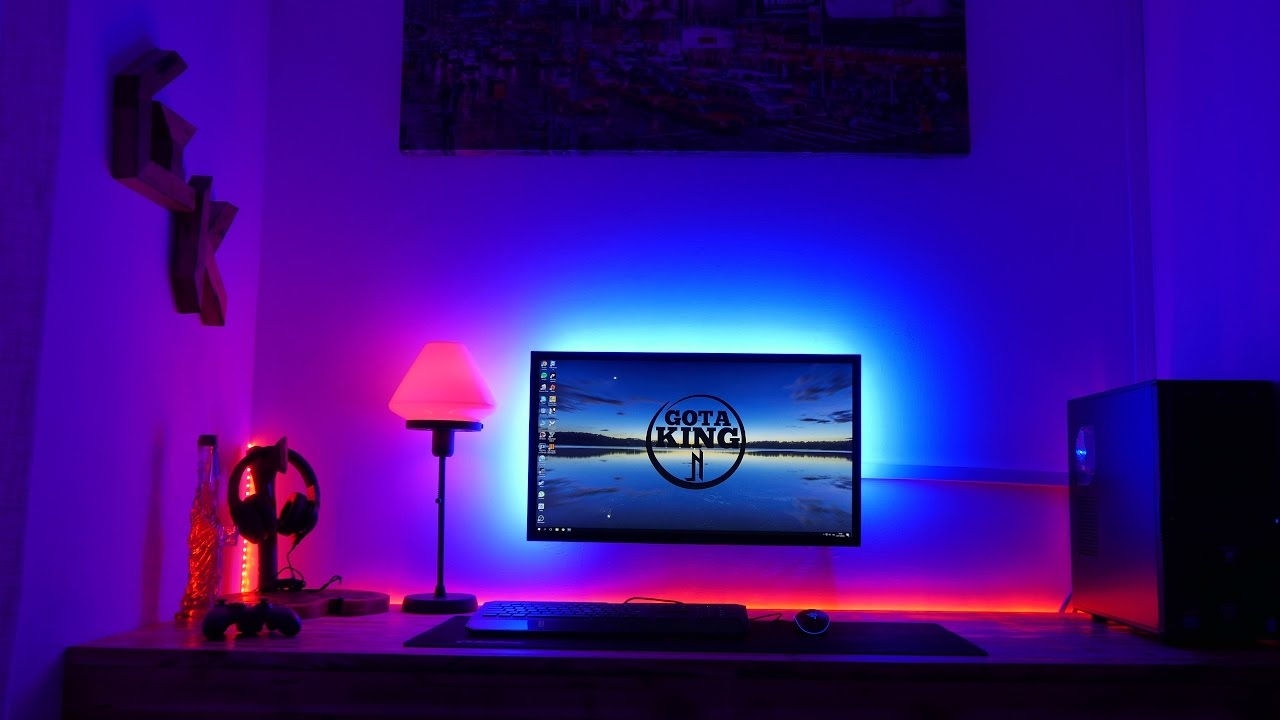 Make any desk set up awesome l e d like my setup youtube for How to light up a room