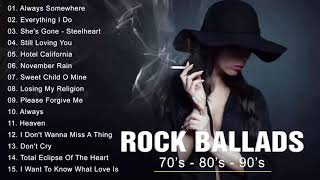 Rock Ballads 70's - 80's - 90's | Best Rock Ballads of All Time | Rock love song nonstop