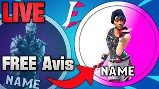Free Fortnite Avis/Profile Picture| Gifting Any Skins Designs LIVE