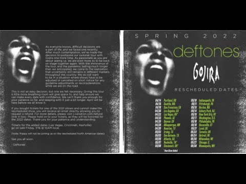 Deftones and Gojira tour rescheduled to spring of 2022  band releases statement ..