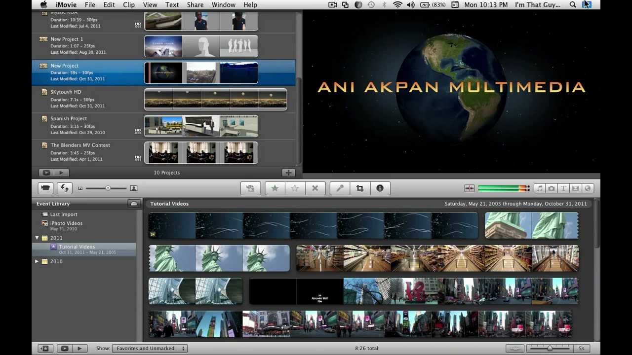 Basic Video Editing in iMovie (Part 1) - YouTube