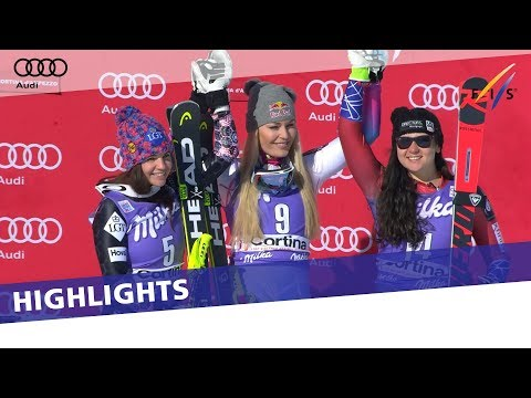 Vonn takes revenge in second Downhill in Cortina | Highlights