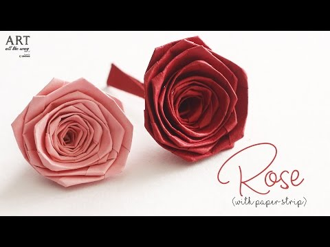 How to make Rose with Paper Strip