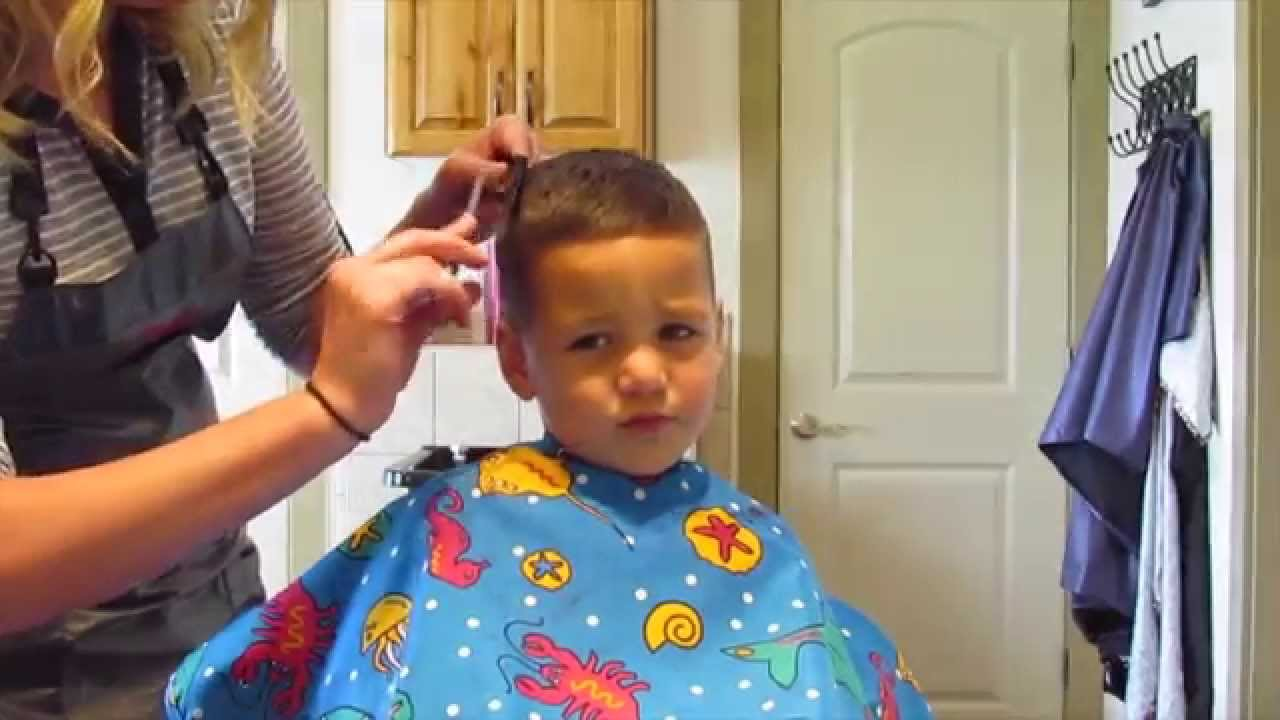 How To Cut Little Boy Haircut Youtube