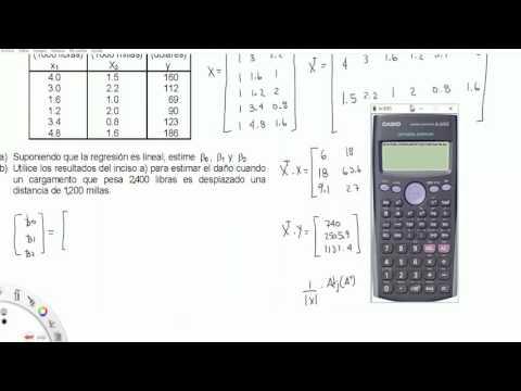 como hacer una regresión lineal con calculadora CASIO fx