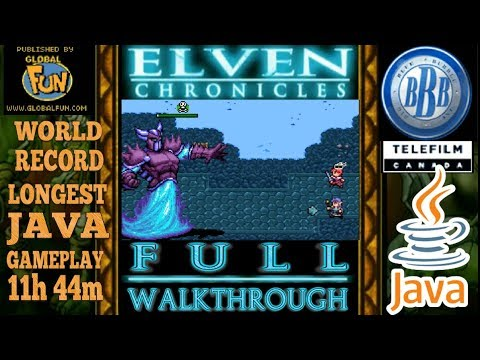 Download Elven Chronicles JAVA GAME (Big Blue Bubble 2007 year) FULL WALKTHROUGH