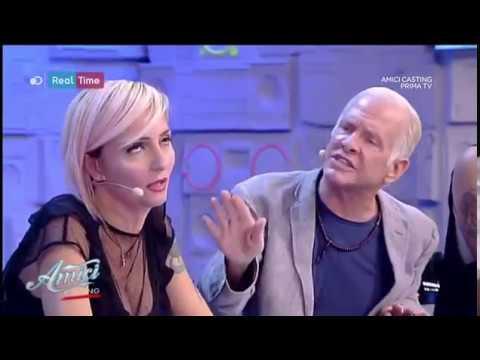 Veronica Peparini e Garrison discussione  durante Amici Casting