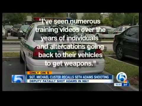 Audio: Deputy speaks about Seth Adams shooting