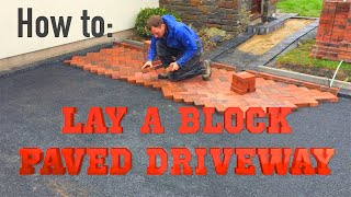 How to lay block paving