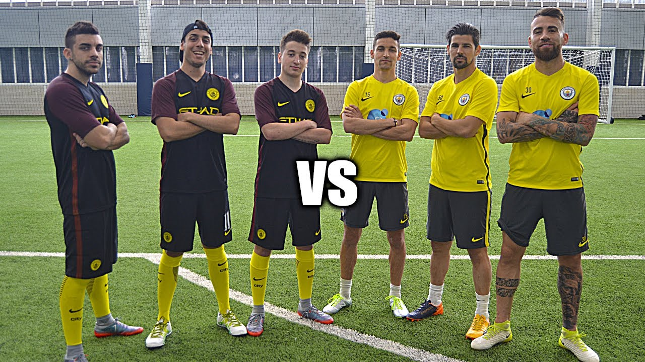YOUTUBERS vs MANCHESTER CITY - RETOS DE FUTBOL!!