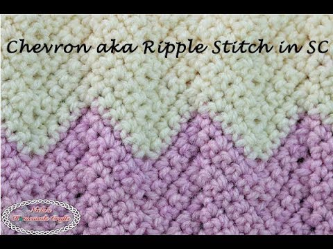 Detailed Crochet Tutorial for the Chevron aka Ripple Stitch