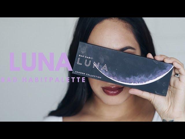 Bad Habit Beauty- New Luna palette Swatches + Review